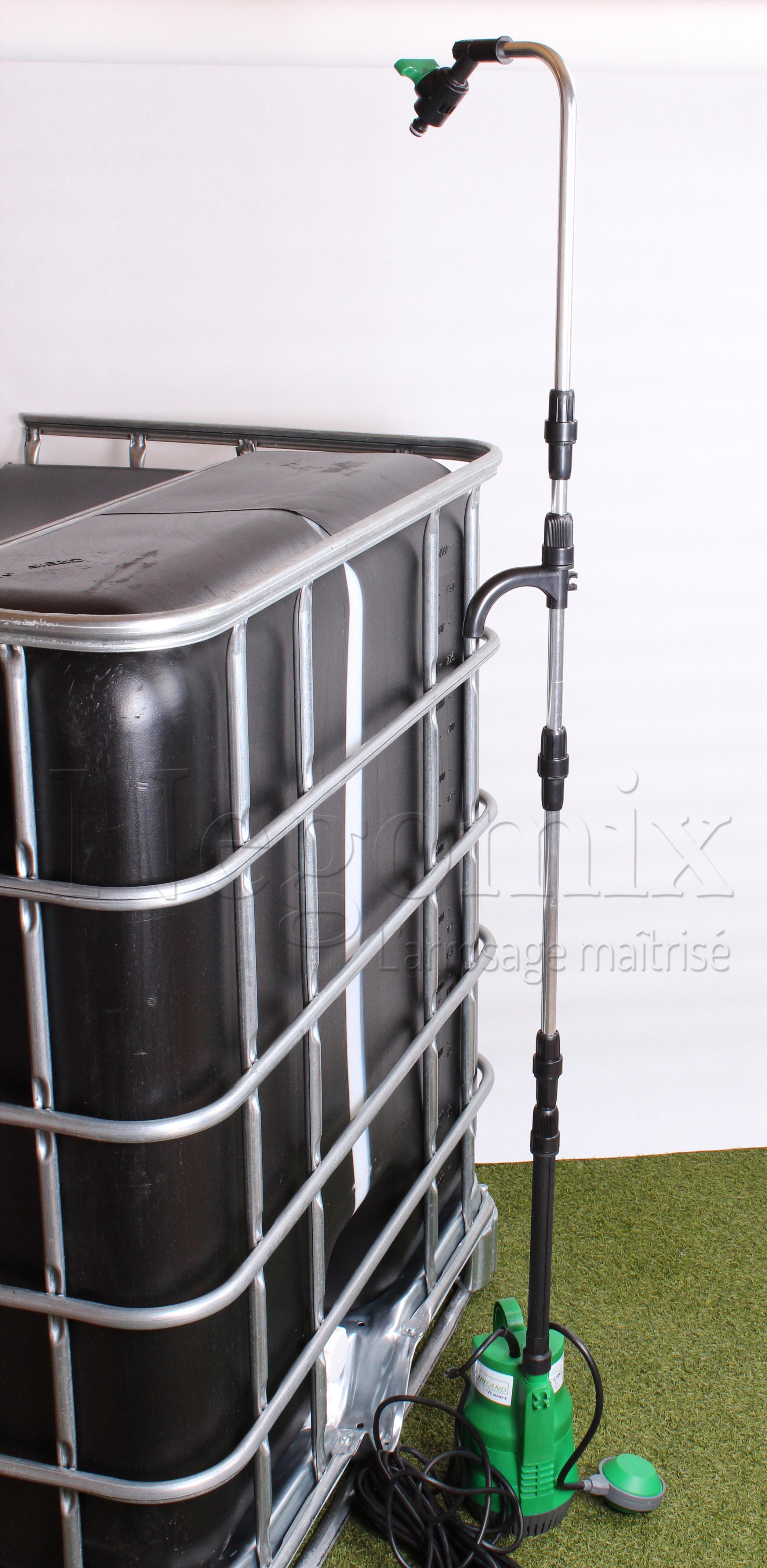 utiliser une pompe avec ma cuve d 39 eau de pluie blog negomix. Black Bedroom Furniture Sets. Home Design Ideas